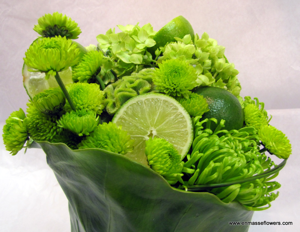 Green Flowers with Limes   En Masse Luxe   Frederick, Maryland 21701
