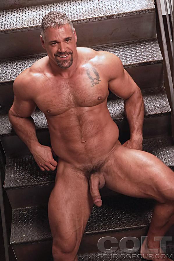 Hairy Black Muscle Men