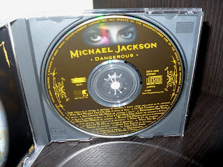 Michael Jackson - Dangerous ESCA 5500 1st Japan Press cd label