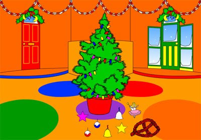 decorate the christmas tree game with baubles tinsel bells and stars decora el rbol de navidad con bolas espumilln campanas y estrellas