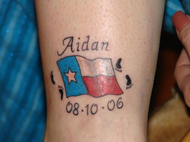 Tennessee State Flag Tattoo