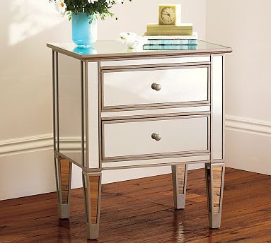 Pottery Barn Mirrored Bedside Table $399.00
