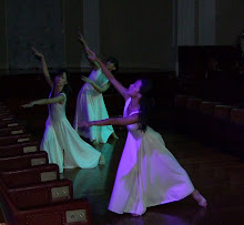 Dancers inside old Parliament chamber