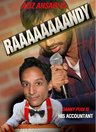 Aziz Ansari and Danny Pudi in RAAAAAAAANDY by Vulture