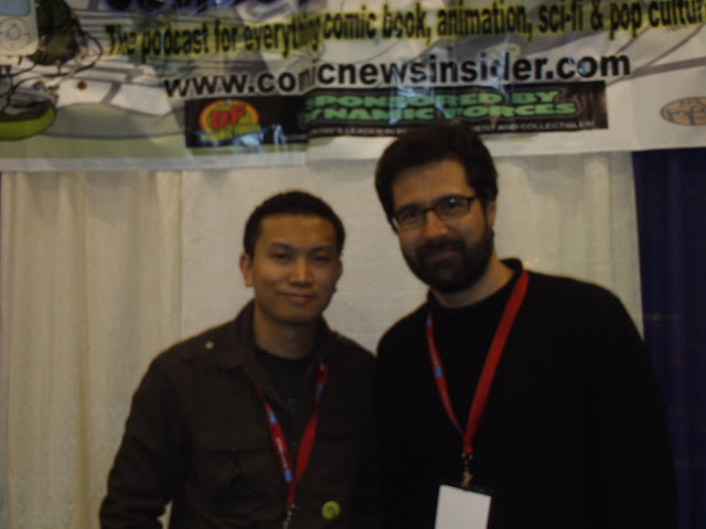 Jimmy Aquino and Greg Pak. Photo by Aquino.