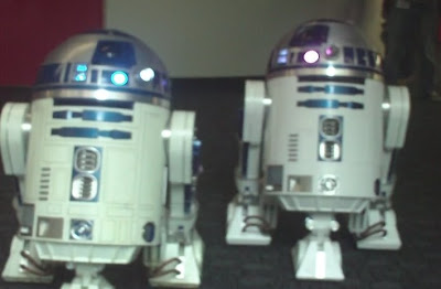 R2D2 x 2 = Known Star Wars cutesiness hater Richard von Busack blowing his brains out