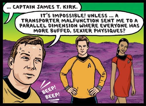 From Ward Sutton's Village Voice cartoon about Star Trek.