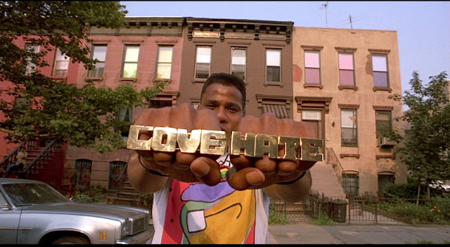 Radio Raheem entertains Mookie with his two-minute recap of The Night of the Hunter.