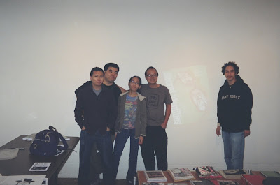 Jimmy J. Aquino, Walden Wong, Tiffanie Hwang, Jeff Yang and Luke Martinez at Giant Robot SF's Secret Identities signing session. Photo courtesy of JJA.