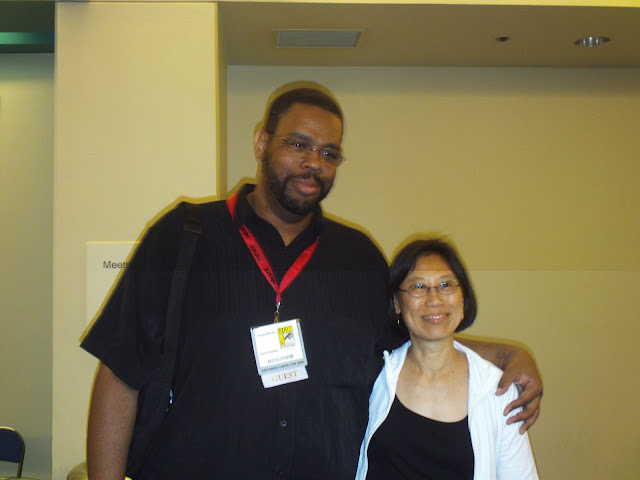 Dwayne McDuffie and Janice Chiang. Photo by Jimmy J. Aquino.