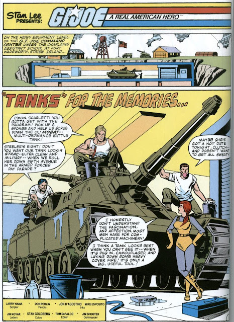 G.I. Joe #5 is essentially a 21-page ad for the toy line's MOBAT vehicle.
