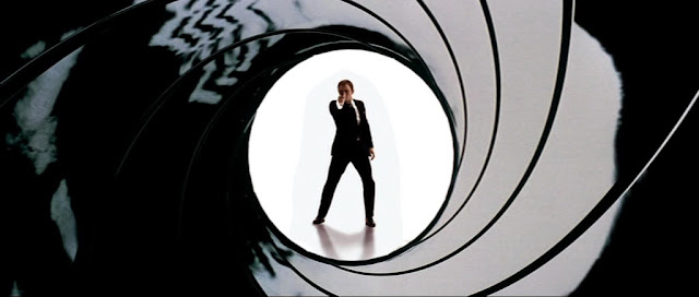 Daniel Craig finally does an official gunbarrel sequence in the Quantum of Solace end credits. Uh, I thought those things were supposed to be at the beginning of the movie.