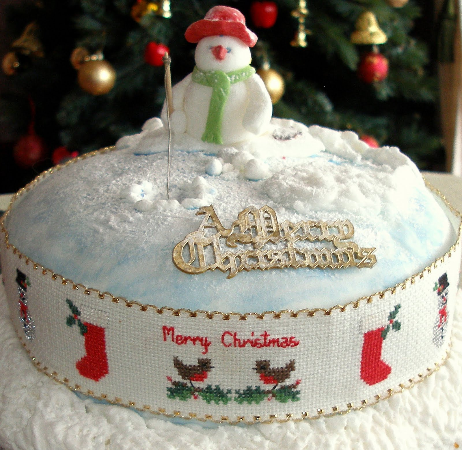 Christmas Cake Images Decorations : konnykards - musings of a senior citizen: Christmas cake ...