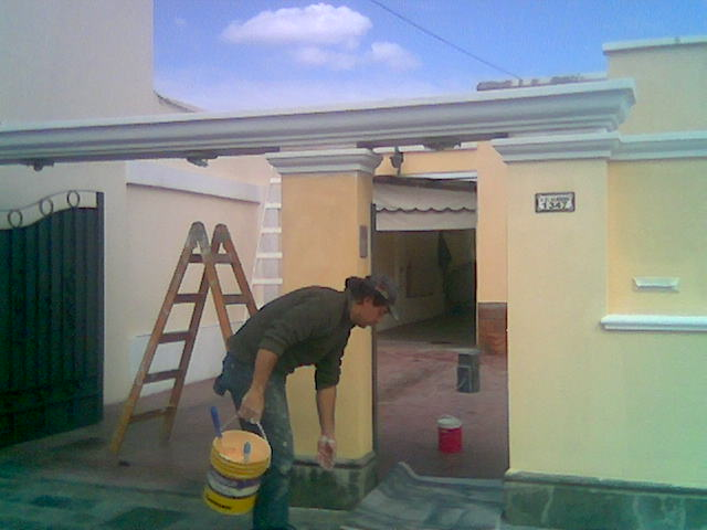 Hidro bahia trabajo de pitura int ext en casa de susana - Pintura para rejas ...