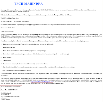 fundoo recruiter call in the name of tech