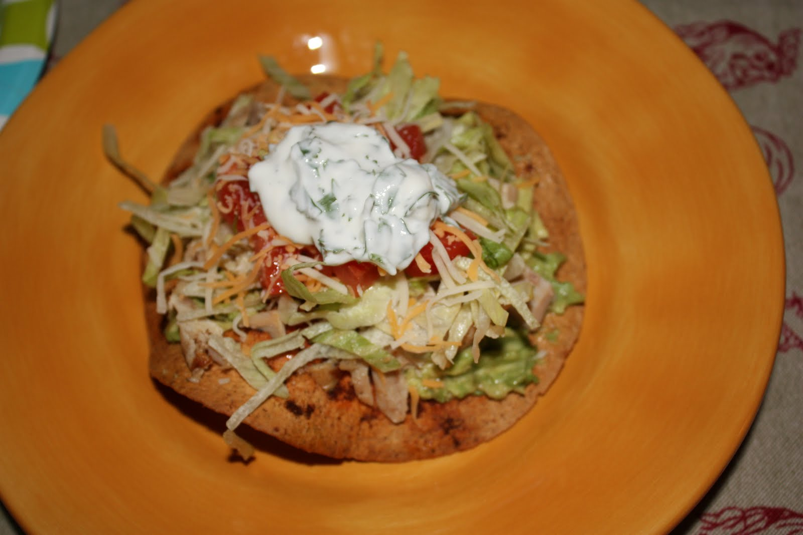 Skinny Eating: Baked Chicken Tostadas