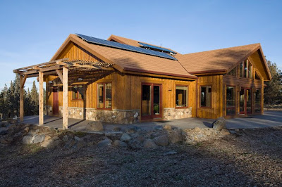 solar timber frame home