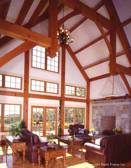 Free home plans prow front post and beam home plans for One story post and beam house plans