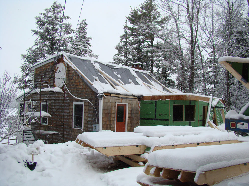 the exterior shell was built with our panelized wall and roof panels.