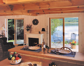 lakeside timber frame cabin