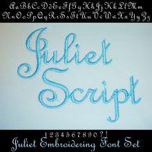 Juliet Script Embroidery Font
