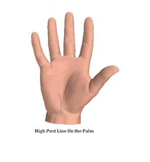 High Post Line - Palmistry Hand Reading Tip