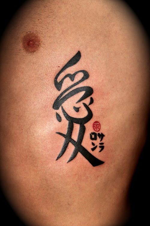 Kanji tattoos are based on Japanese writing system called kanji which is one