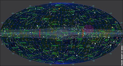 Beyond the observable universe: the area marked in purple is where astronomers have observed the 'dark flow'