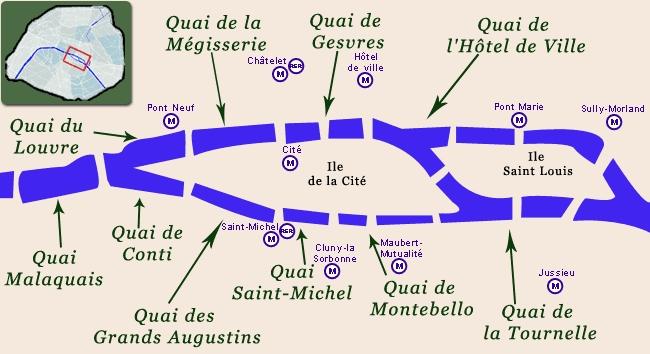 и до набережной Лувра,