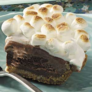 Dying for Chocolate: S'mores Ice Cream Pie: National Ice Cream Pie Day