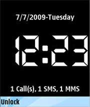 Key Lock Clock for Nokia 5800XpressMusic