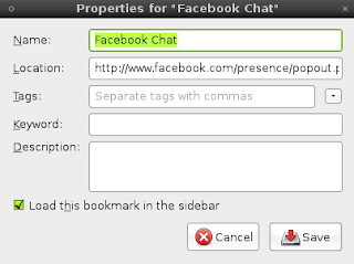 Addinf Facebook chat in Firefox