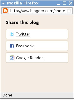 Sharing in Blogger blogs