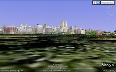 Google Earth, επίπεδο εδάφους(δρόμου)