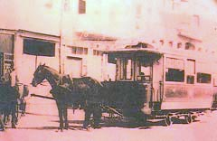 Istanbul tram driven by horses