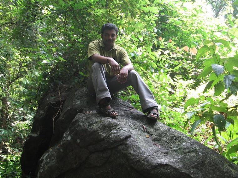 Jinesh on rock