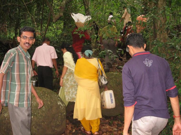 Return from Thommankuthu waterflow to Cochin