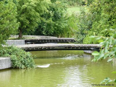 Brücken im Botanischen Garten, Hamburg, Klein Flottbek