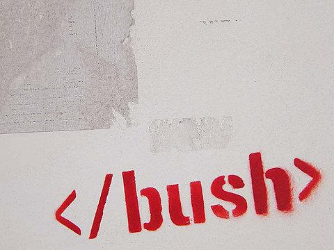 bush leaving