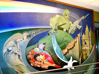 Denver international airport paintings for Denver mural conspiracy