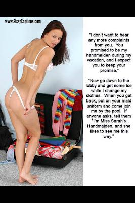 sissy lingerie tease