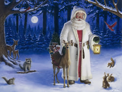 Santa and his forest friends.
