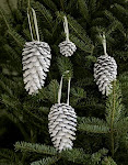 White Pinecones