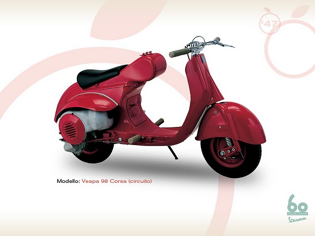 Vespa 98 cc and 1998 cc Race Racing (circuit) title=