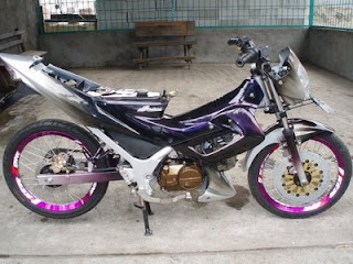 Motorcycle 170cc Honda Supra FU Modified