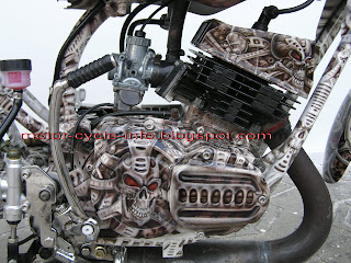 Street Fighter Yamaha Skull Art