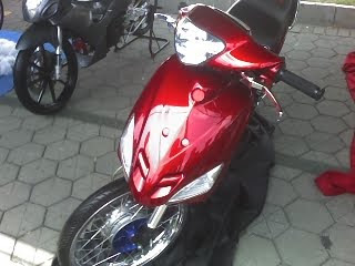modifikasi motor mio red airbrush