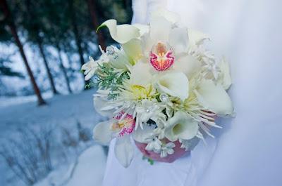 Petal and Bean Wedding Bouqet