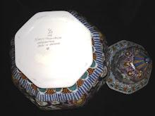 Velsen polychrome vase and lid