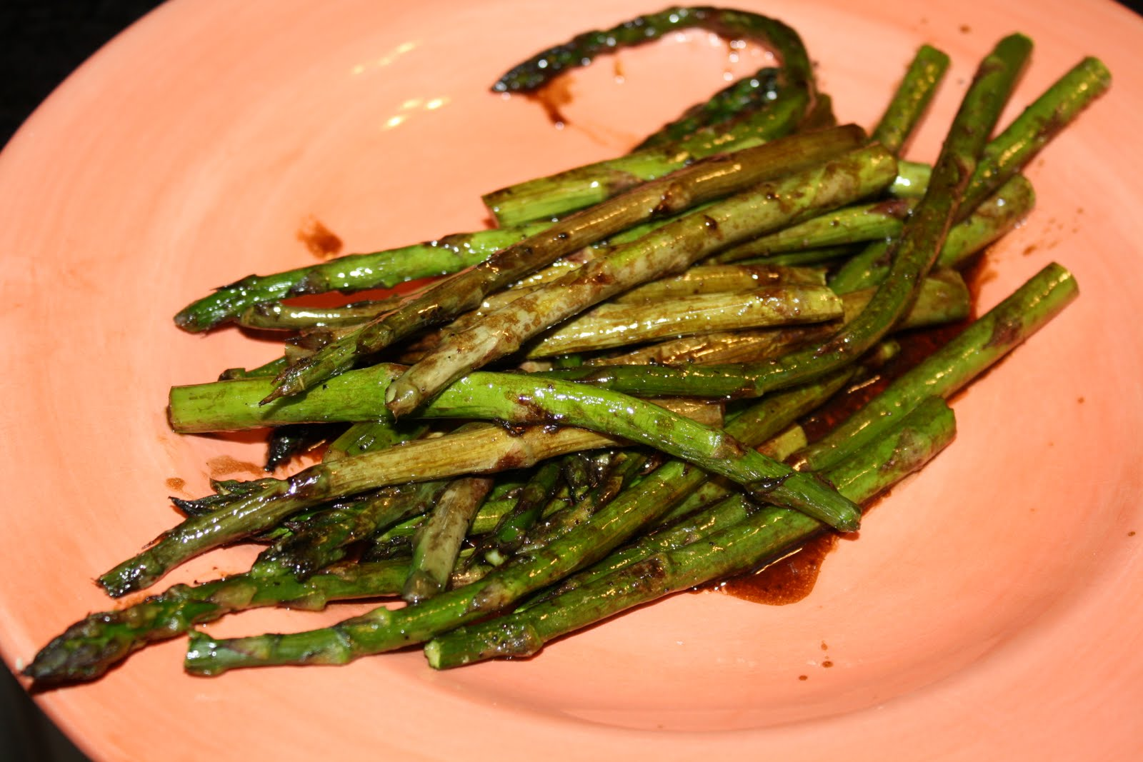 Roasted Asparagus with Balsamic Butter Sauce